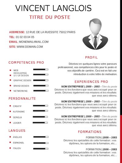 CV COMMERCIAL / VENDEUR