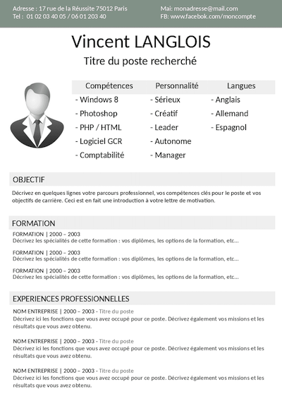 Exemple De Cv Comptable Gratuit A Telecharger