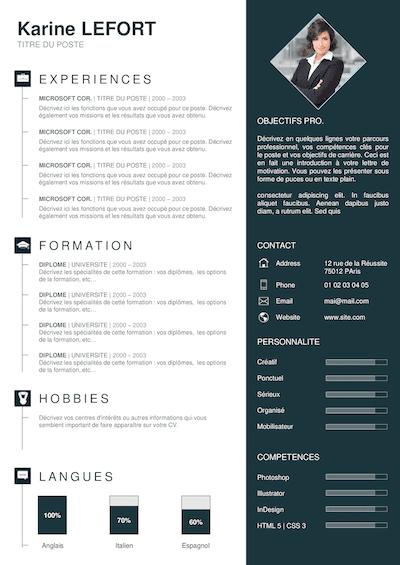exemple de cv  u00e0 t u00e9l u00e9charger  gratuit  en 3 clics    pdf
