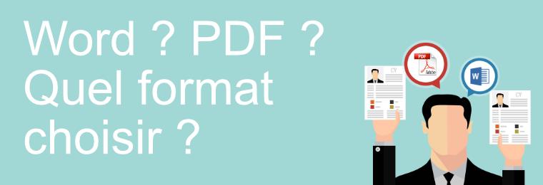 cv word ou pdf  ou pptx    quel type de format choisir